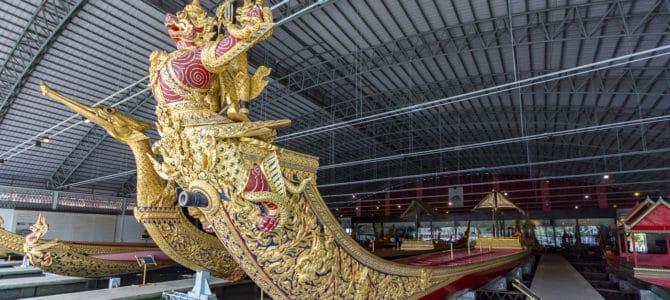 Die Königlichen Barkassen im Royal Barges National Museum Bangkok