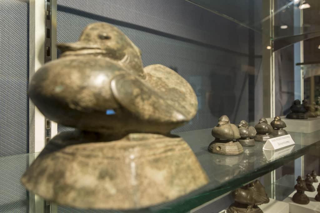 Enten aus Bronze als Opiumgewicht