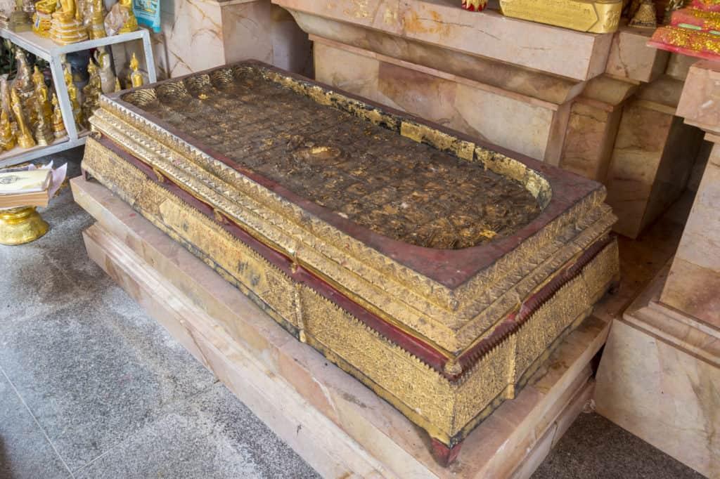 Großer Fußabdruck von Buddha - Wat Phet Wararam - Phetchabun