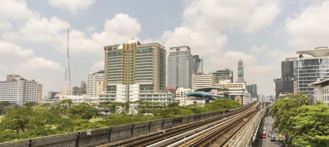 Mit der Skytrain Ins Zentrum von Bangkok zum einkaufen…