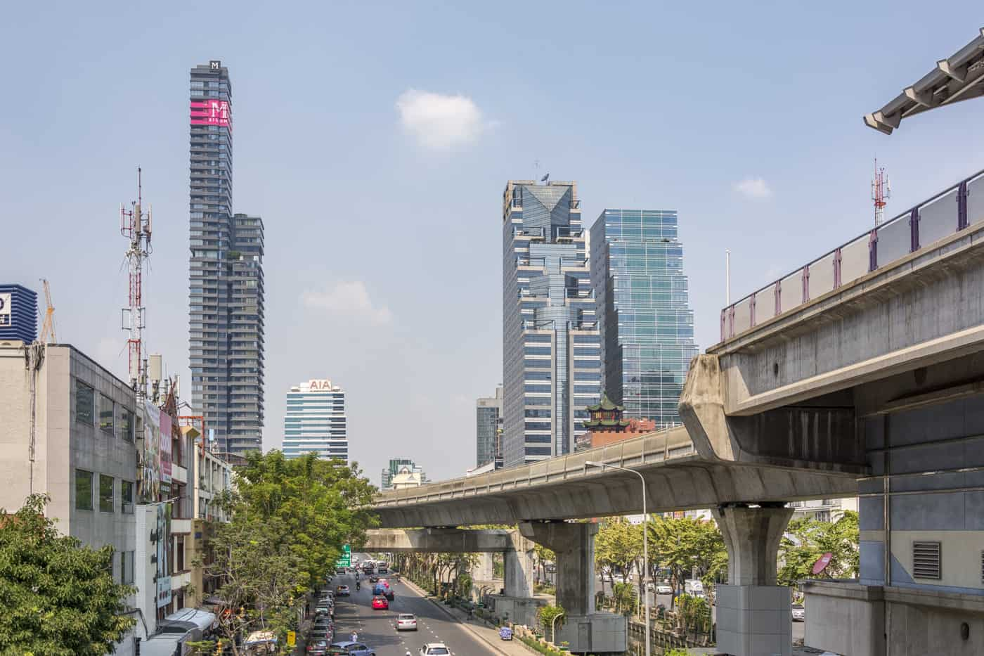 Skytrain Terrasse im Herzen von Bangkok