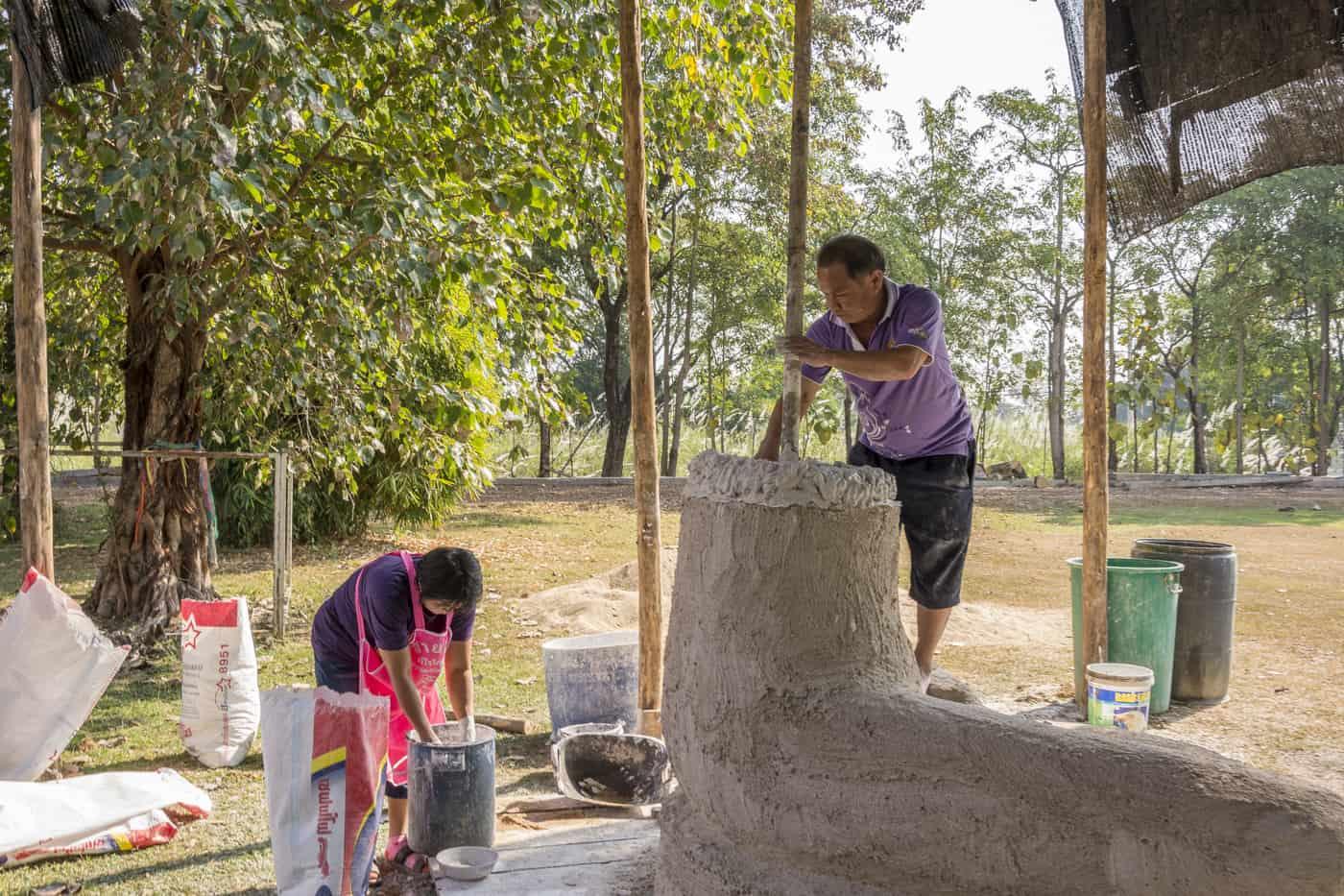 Erstellung einer Buddha Figur im Schichtbau