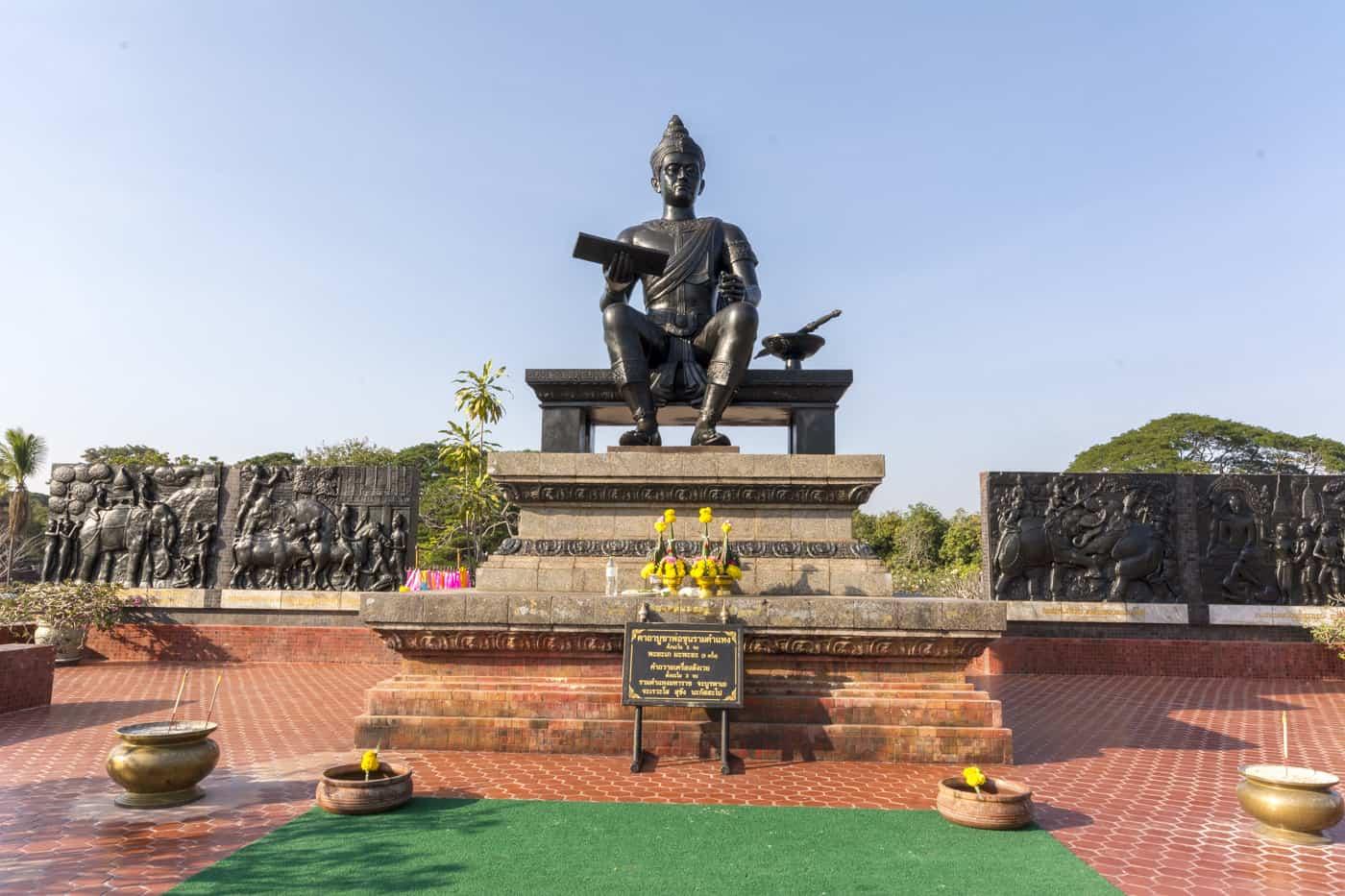 Ramkhamhaeng-Denkmal im historischen Park Sukhothai