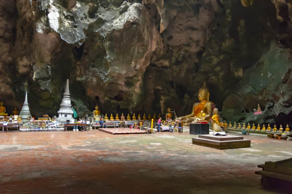 Einblick in die Khao Luang Höhle in Phetchaburi