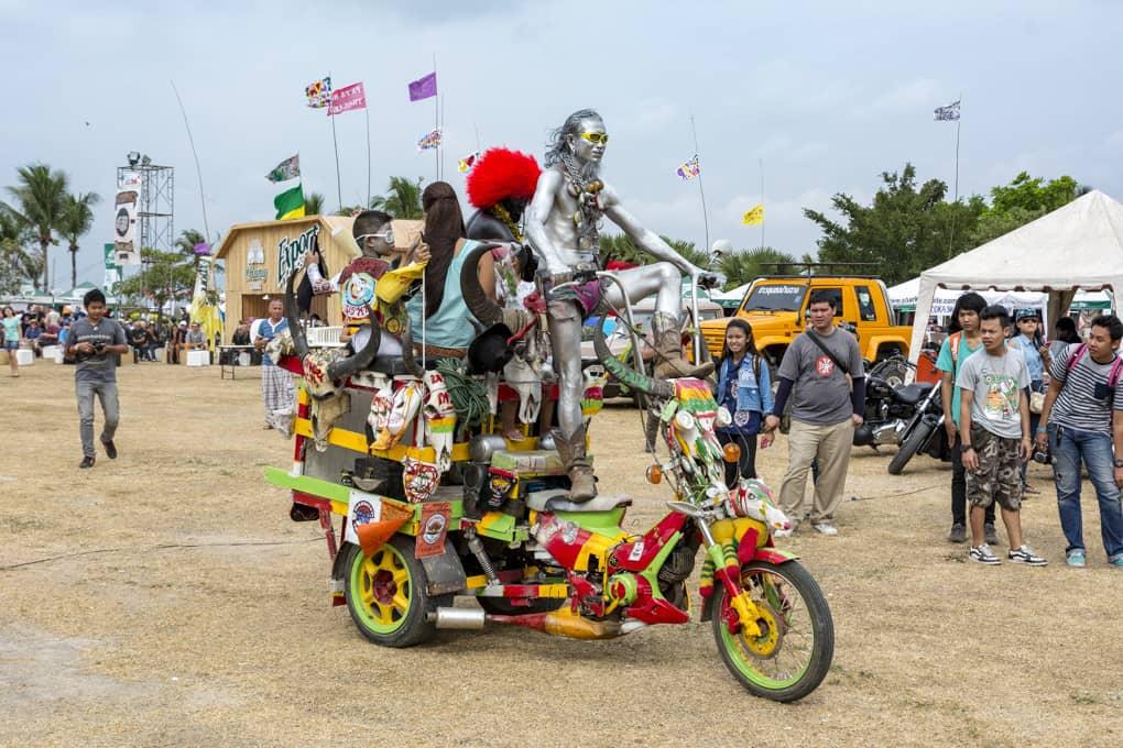 Fantasievolles Motorrad in Thailand