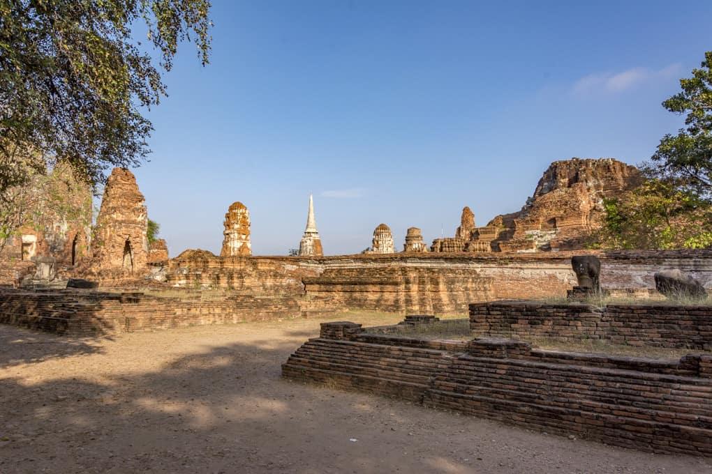 Reste der alten Königstadt Ayutthaya