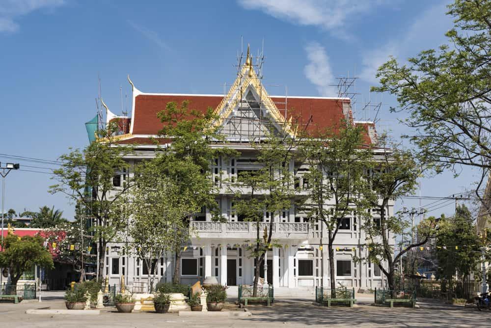 Neubau im Wat Mahatat in Phetchabun im Januar 2018