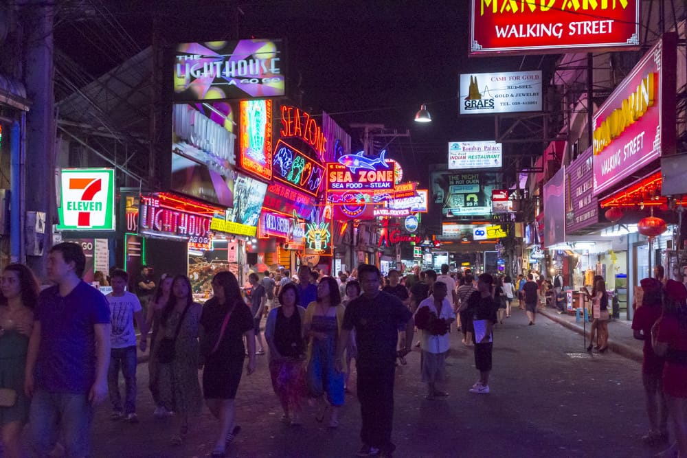 Strassenzug walking street Pattaya