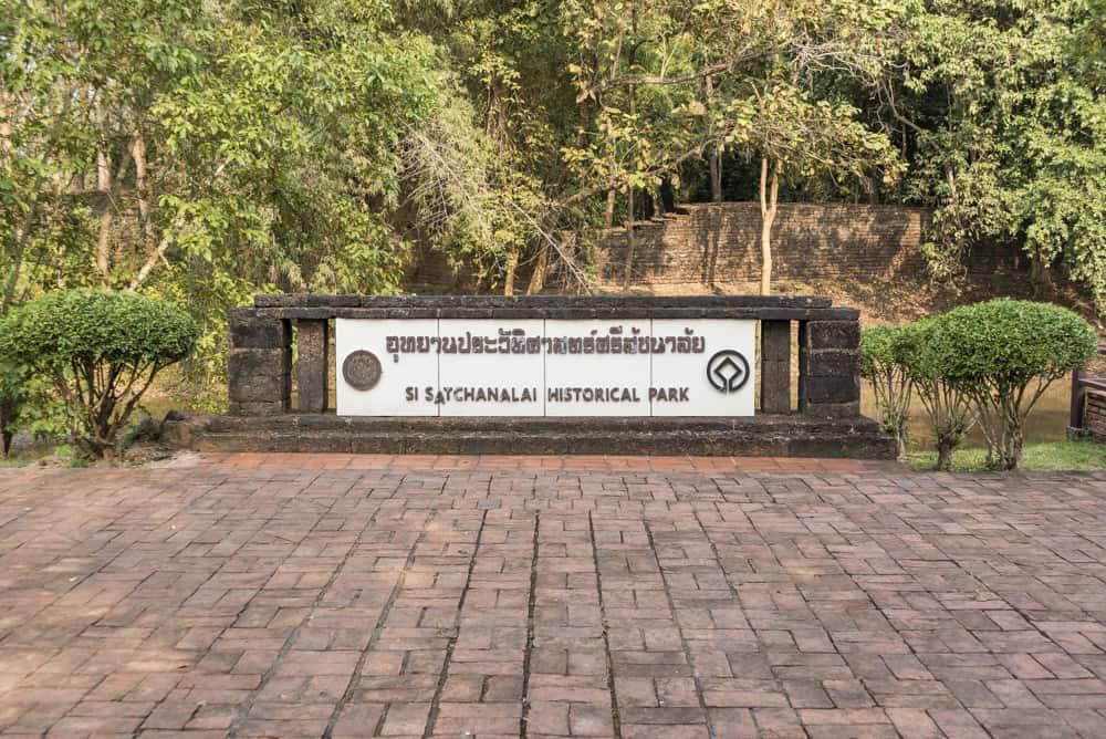 Eingangsschild des Historischen Parks Si Satchanalai
