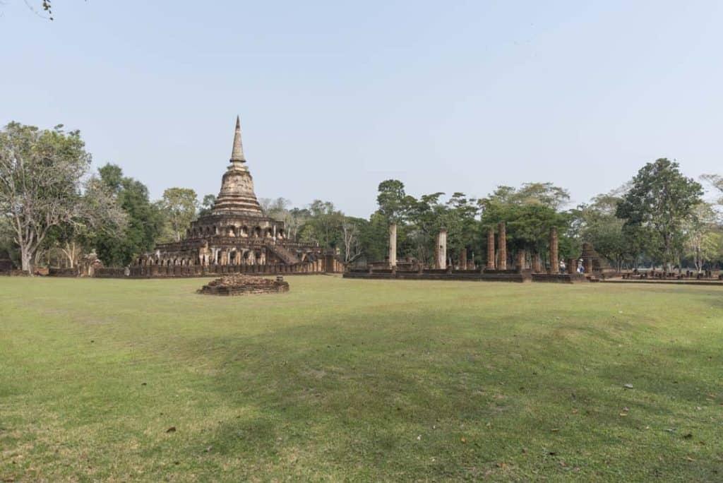 Überblick über die Anlage von Wat Chang Lom