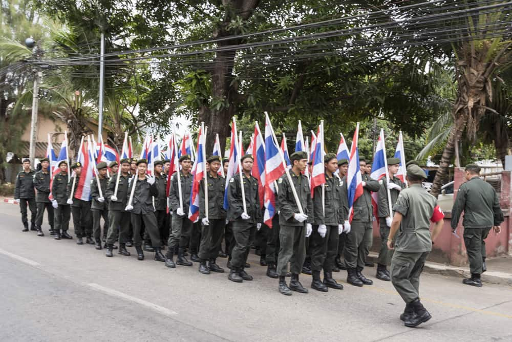 junge Soldaten der thailändischen Armee
