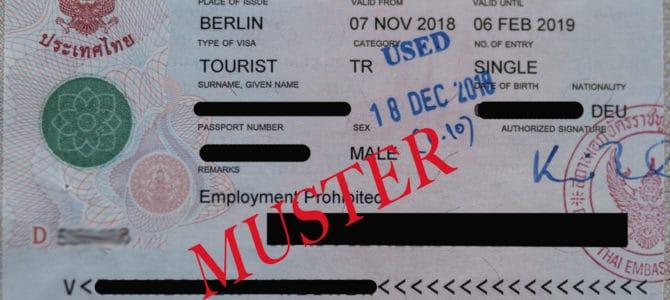Visa-Informationen und Visa-Arten Thailand