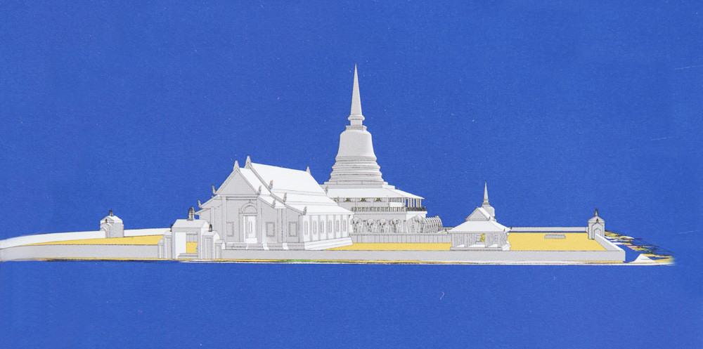 Computer generiertes Model vom Wat Chang Lom