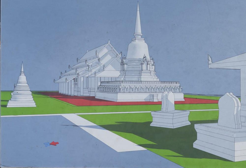 3 D Rekonstruktion von Wat Nag Phaya