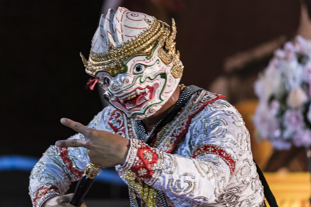 Affenkönig Hanuman im thailändischen Khon