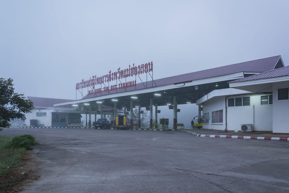 Bus Terminal Mae Hong Son Ankunftsort oder Abfahrtsort von vielen Besuchern