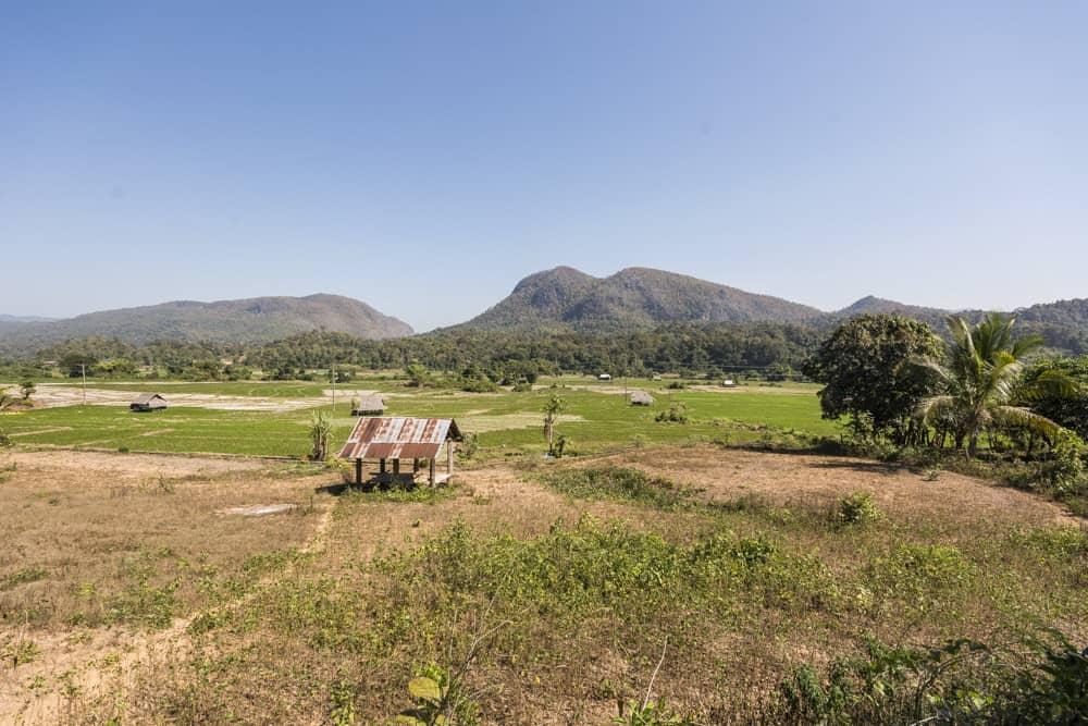 Bergige Landschaft auf dem Weg nach Mae Hong Son