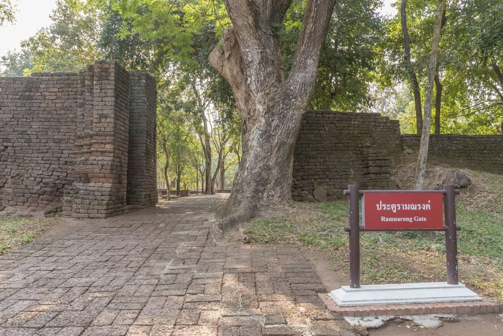 Das Ramnarong Tor von der Innenseite gesehn