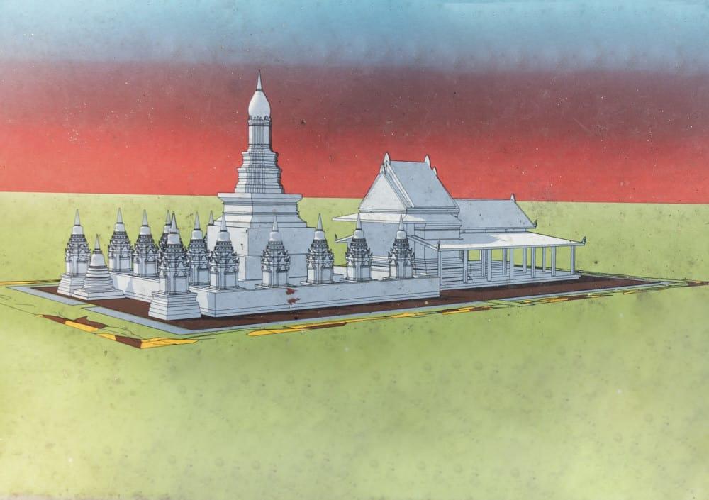 3 D Rekonstruktion vom Wat Utthayan