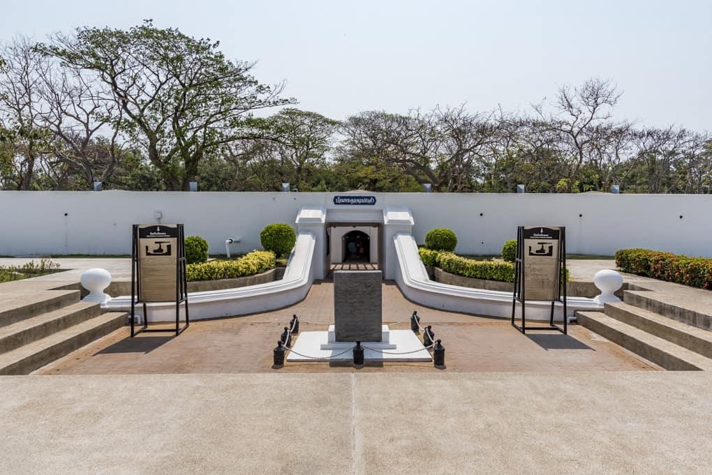 Eingangsbereich des Fort Fort Phra Chulachomklao
