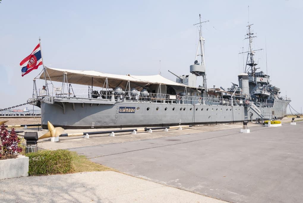 Die Mae Klong mit den abmontierten Schiffsschrauben