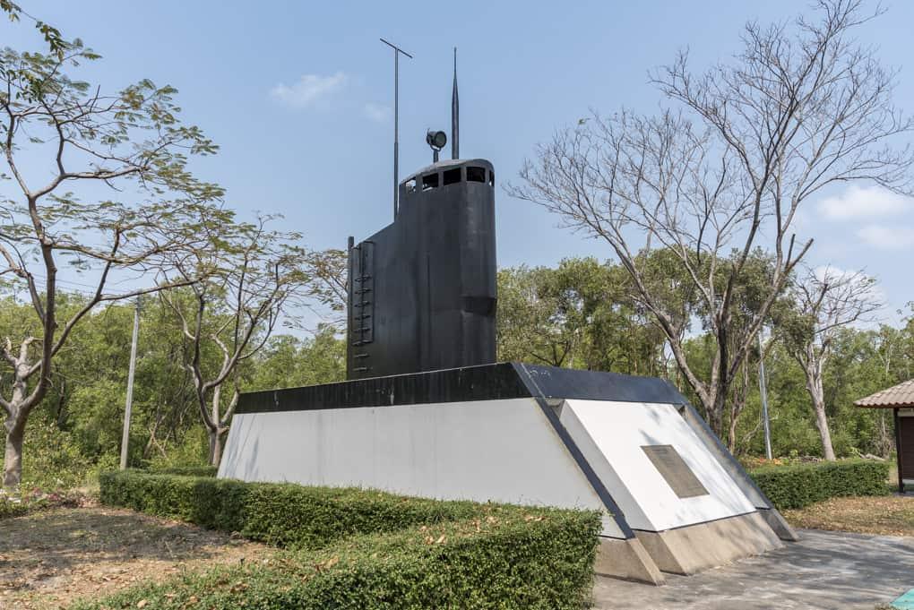 Die Turmverkleidung des U-Boots Matchanu