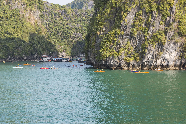 Paddelboote für die Touristen