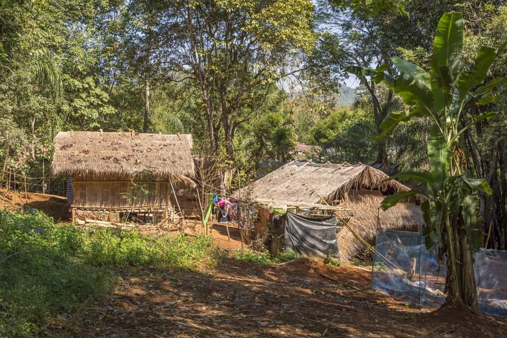 Häuser der Hilltribes, der Bergvölker in Nordthailand