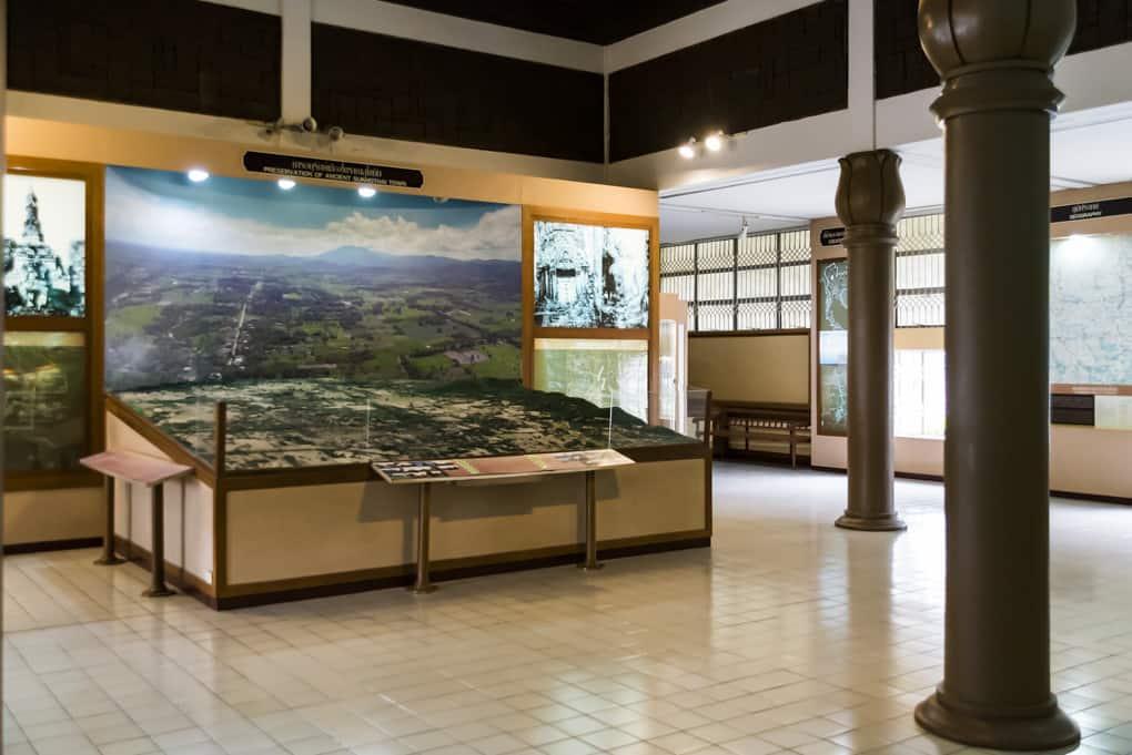 Modell der historischen Anlage von Sukhothai im Ramkhamhaeng National Museum Sukhothai