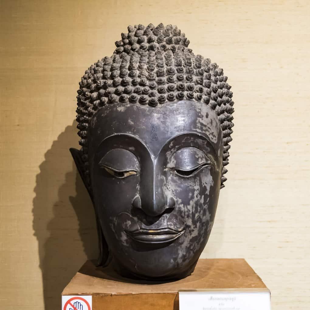 Buddha-Kopf aus Bronze