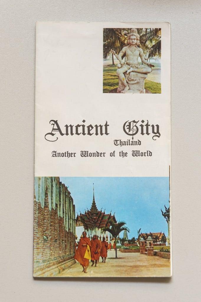Faltplan aus der frühen Zeit von Ancient City