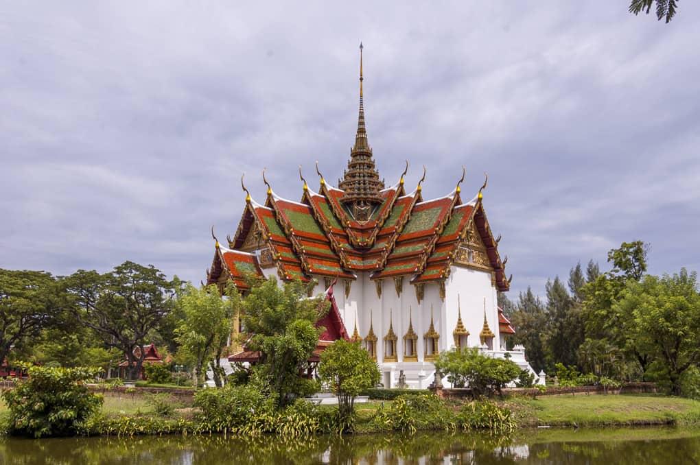 Dusit Maha Prasat Nachbildung im Mueang Boran - Ancient City nahe Bangkok