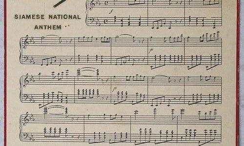 Die Nationalhymne und die Königshymne Thailands