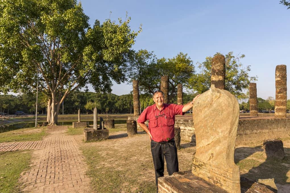 Der Autor mit einem Bai Sema