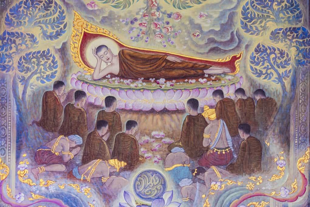 Bild in der Ausstellung om Wat Yan