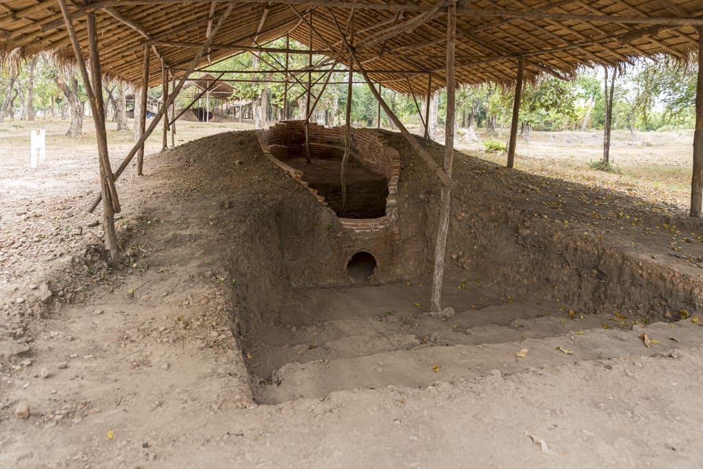 3 Kammer Brennofen im Historischen Park Sukhothai