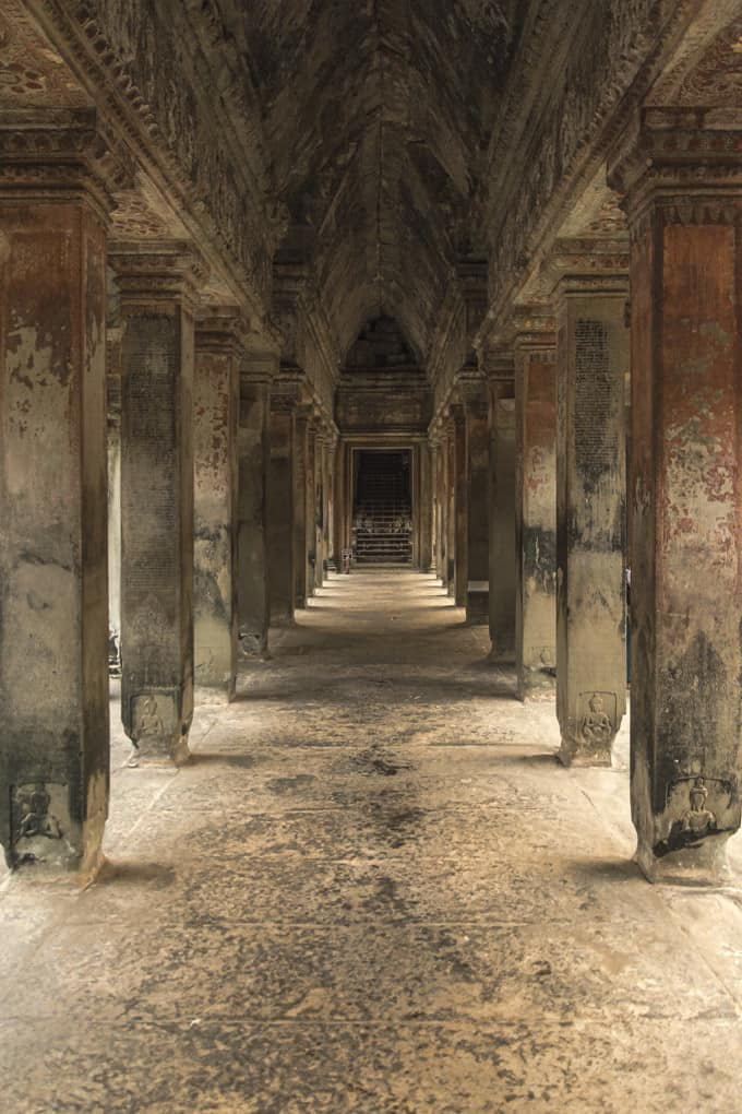 Saeulengang in Angkor Wat