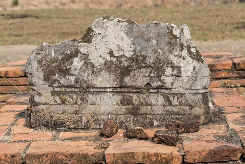 Rest eines Bot-Steines im Wat Chang Lom Sukhothai