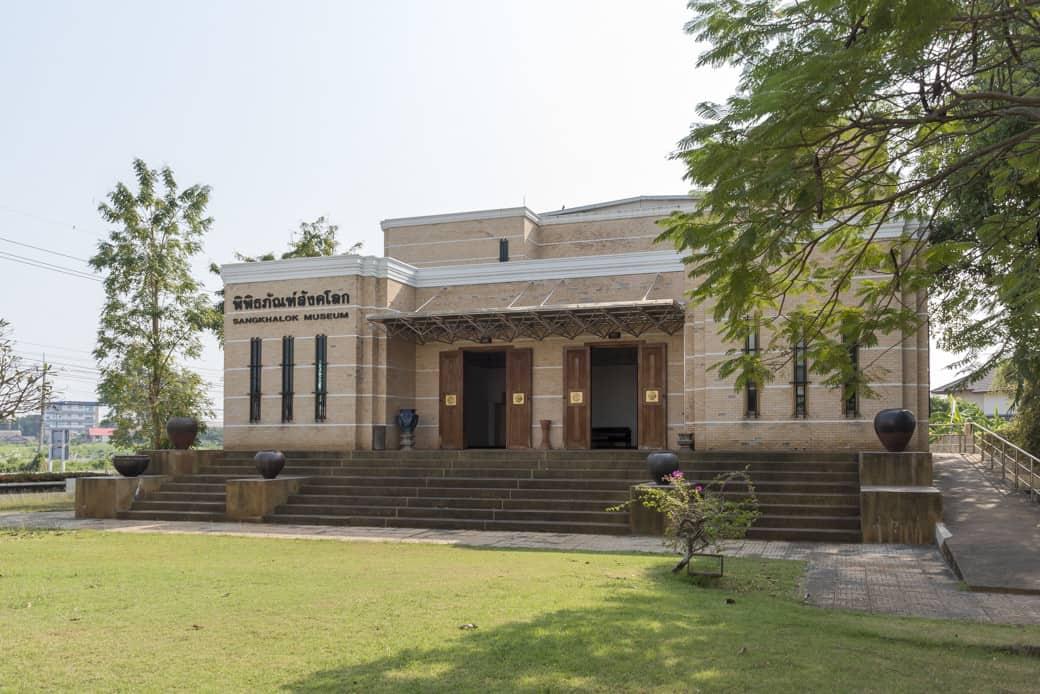 Das Gebäude des Sangkhalok Museum in Sukhothai