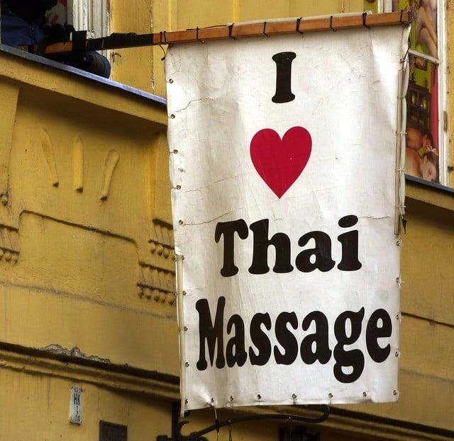 Werbefahne Thaimassage