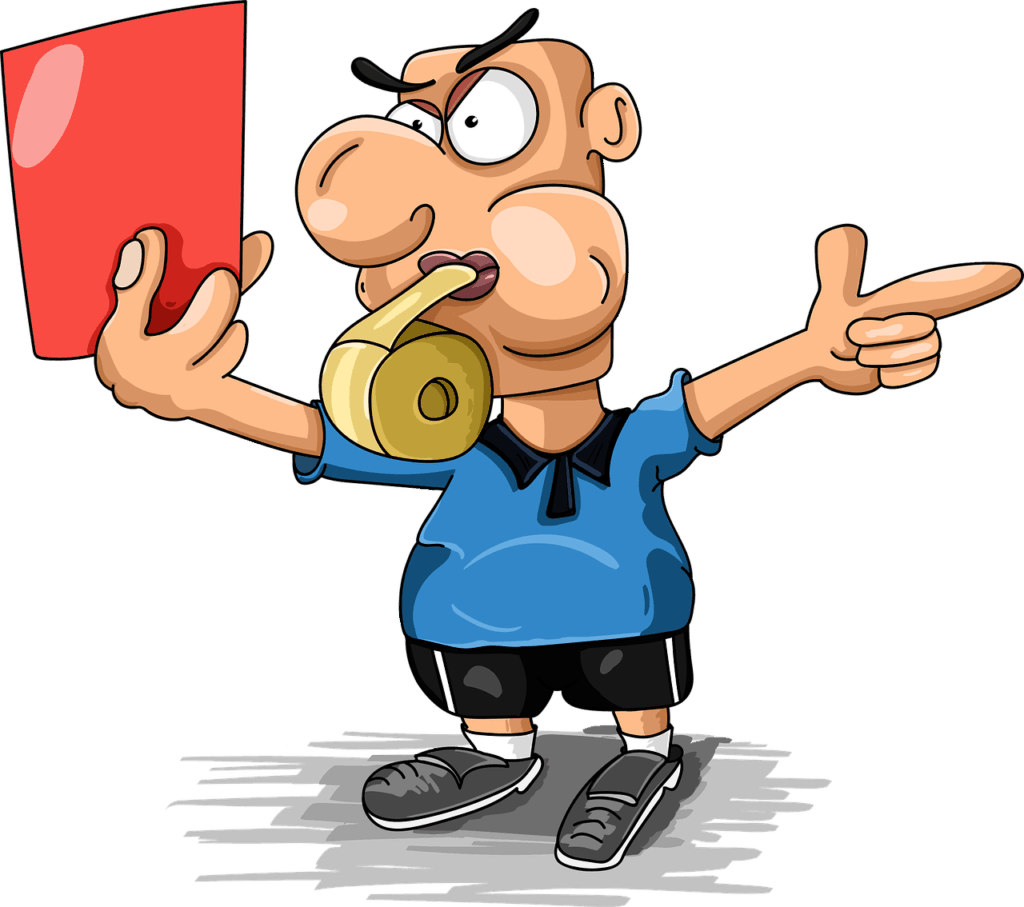 Schiedsrichter aus Deutschland zeigen die rote Karte