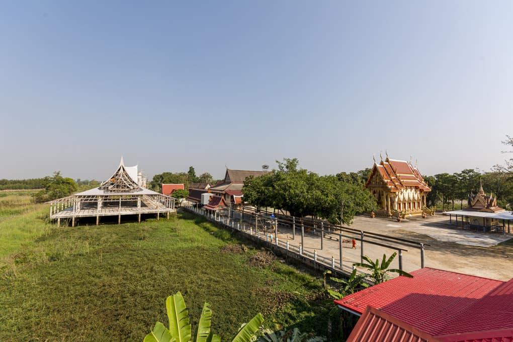 Neubau des neuen Viharn im Wat Krachonkaram