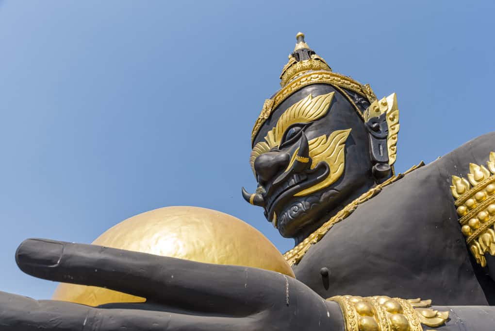 Figur des Rahu im Wat Krachong in Sukhothai