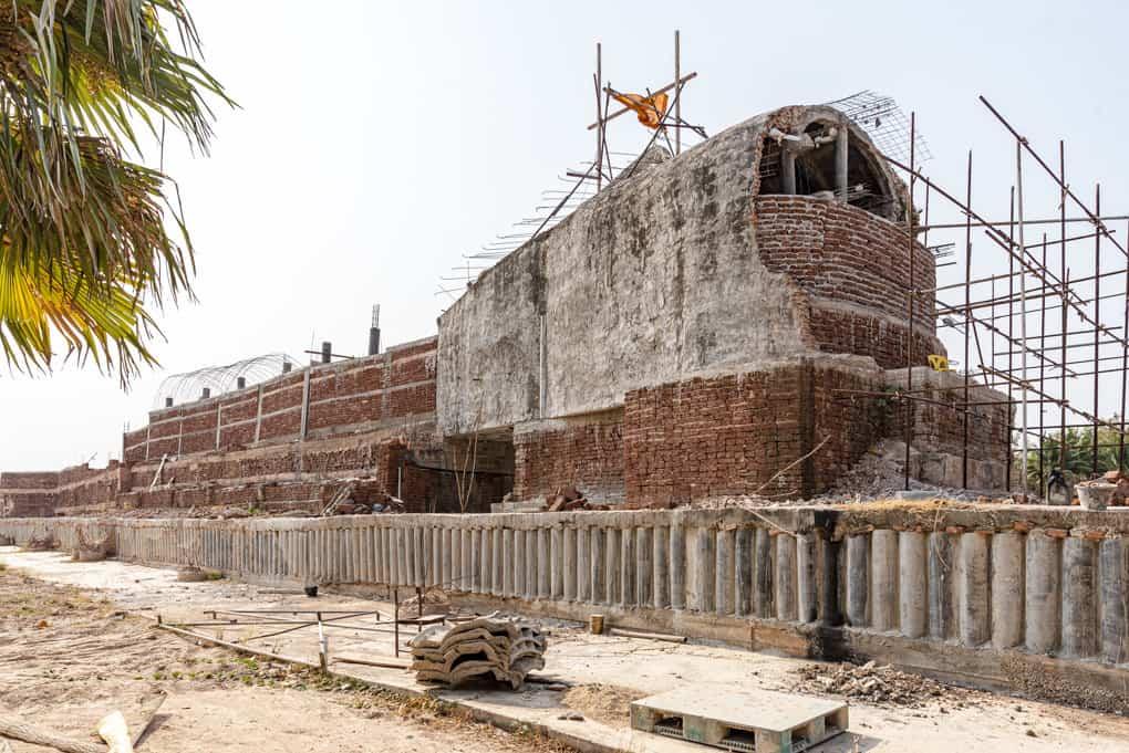 Rückseite des grossen liegenden Buddhas