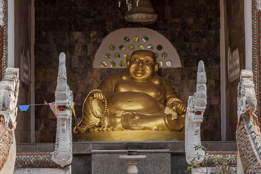 Dicker Mönch das Symbol für Glück
