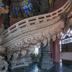 Mit Mosaiken versehender Treppenaufgang