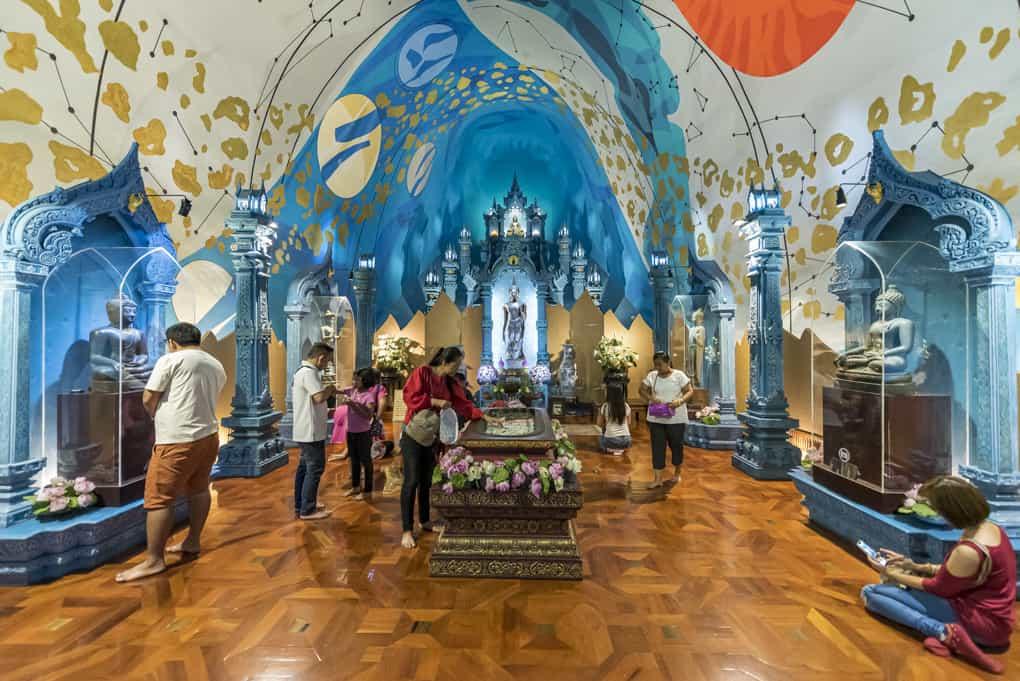 Die Ebene des Kosmos im Erawan Museum in Bangkok dem oberen Teil der Elefanten-Statue