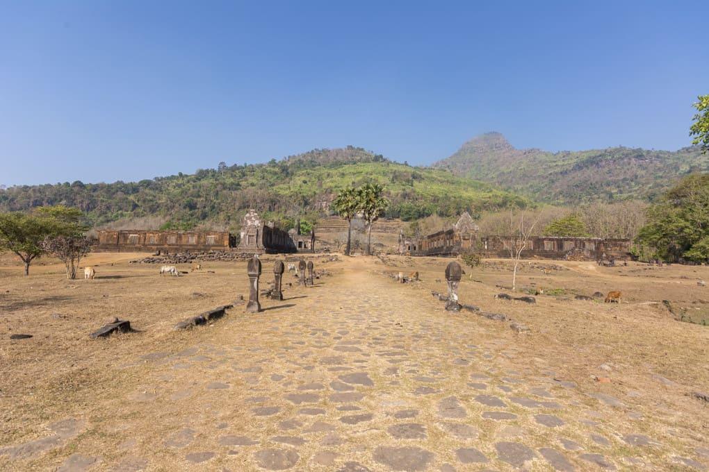 Zugangsweg zum Wat Phou
