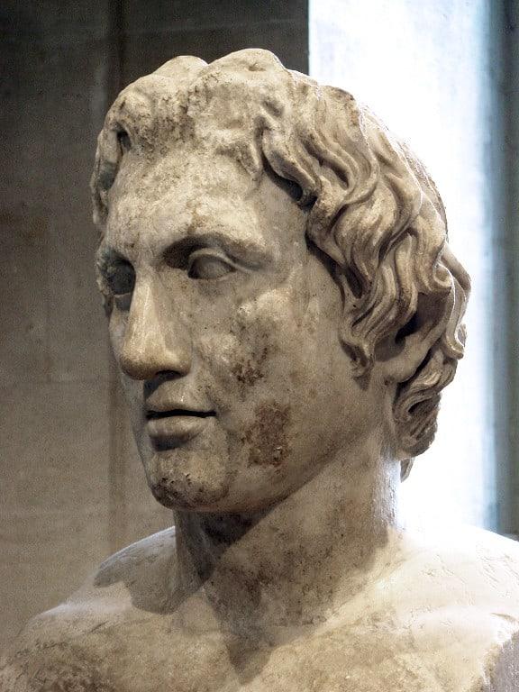 Büste Alexander der Große eine Vorlage für das Gesicht Buddhas - Gandhara