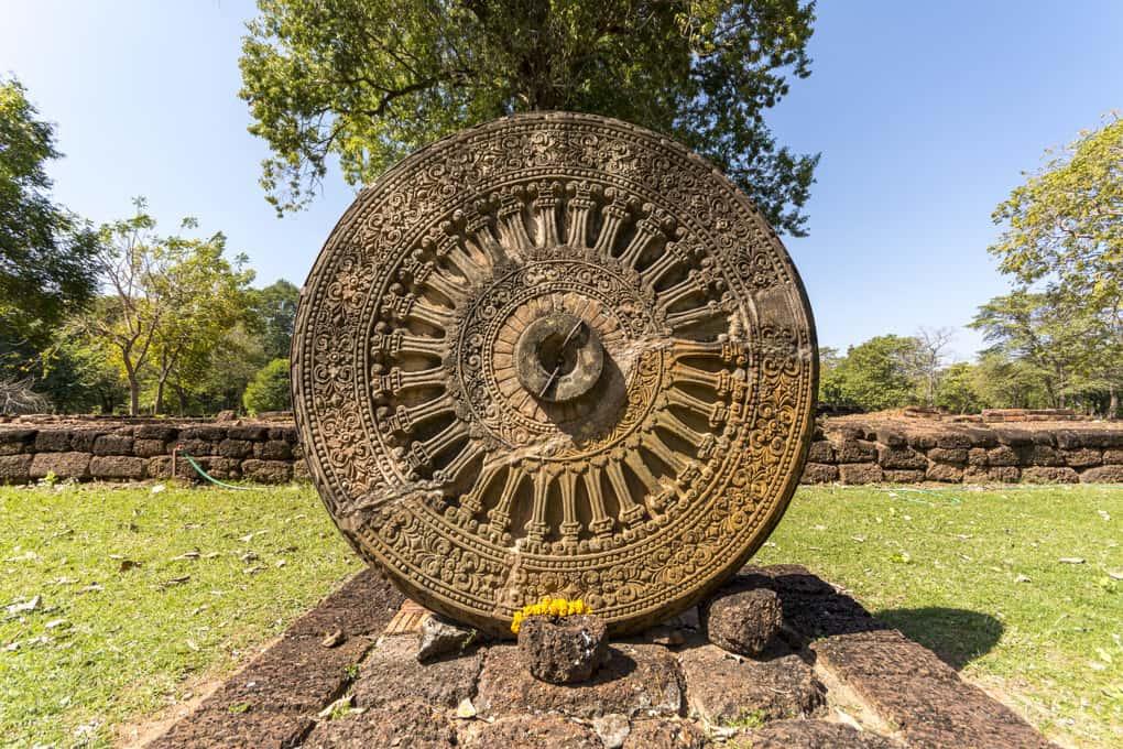 Dharma-Rad oder Rad der Lehre - die ikonografische Darstellung Buddhas